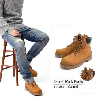 メンズブーツ トレッキングブーツ シークレットブーツ  靴 シューズ キャメル(ブーツ)
