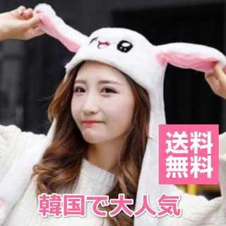 うさ耳 帽子☆韓国で人気!うさぎの耳が動く♪