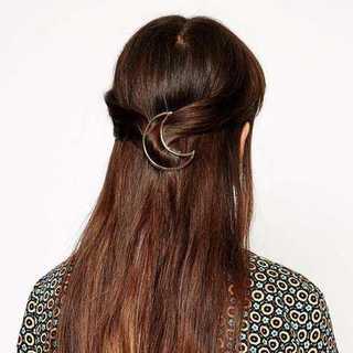 ムーンクリップ 三日月 バレッタ 髪留め ヘアアクセサリー 約5.5cm(その他)