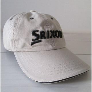 スリクソン(Srixon)のSrixonキャップ 帽子(ベージュ/フリーサイズ・ベルト式/綿100%)(キャップ)