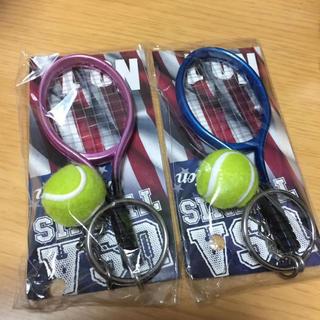 テニス キーホルダー 2個セット(キーホルダー)