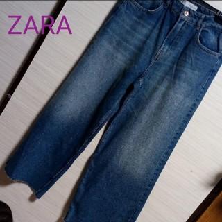 ZARA - 新品♡ZARA デニム ワイドパンツ