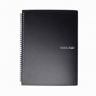 リング式 楽譜ファイル 書込みOK A4 60枚収納 (黒) //BVK(その他)