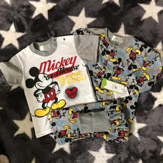 ディズニー(Disney)の【新品】ディズニー ミッキー パジャマ 80 3点セット(パジャマ)