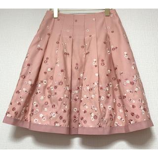 M'S GRACY - 【刺繍 スカート】 M'S GRACY 38 ピンク×ホワイト 花柄