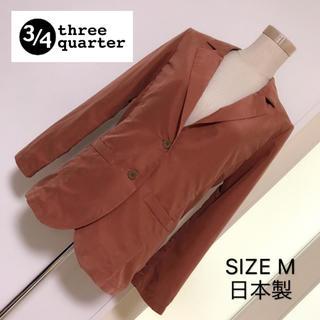 3/4 three quarter 薄手 テーラードジャケット(テーラードジャケット)