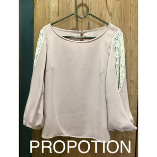 PROPORTION BODY DRESSING - PROPOTION 袖レースカットソー