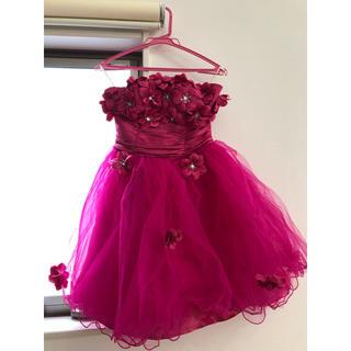 結婚式 ドレス ミニ ピンク 美品