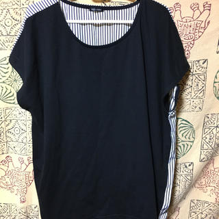 シマムラ(しまむら)の*しまむら*4 L異素材トップス*(Tシャツ(半袖/袖なし))