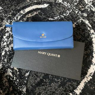 マリークワント(MARY QUANT)の!値下げ!マリクワ 本革 長財布 レザー シンプルパース 新品未使用 ブルー (長財布)