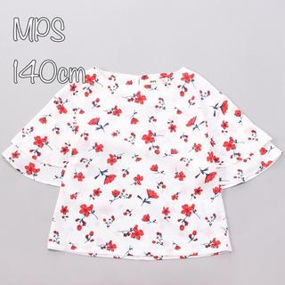 エムピーエス(MPS)の新品140cm*MPS 花柄ブラウス ライトオン(Tシャツ/カットソー)