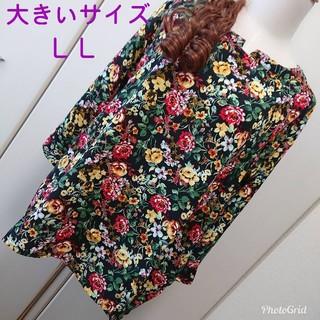 【新品】LL☆マオカラーワイドスリーブチュニック(チュニック)