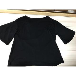 アフリカタロウ(AFRICATARO)のトップス ブラック(カットソー(半袖/袖なし))