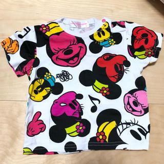 ディズニー(Disney)のディズニーリゾートミニー総柄Tシャツ(Tシャツ)