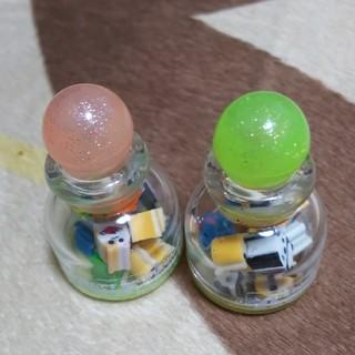 ミニ消しゴム・可愛い容器付き  2個セット(消しゴム/修正テープ)