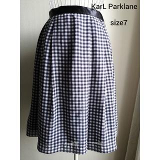 カールパークレーン(KarL Park Lane)の美品 Karl Parklane ふんわりお上品スカート(ひざ丈スカート)