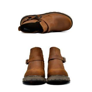 20190321ブーツ0316メンズ 革 レザー25.5cm チョコレート(ブーツ)