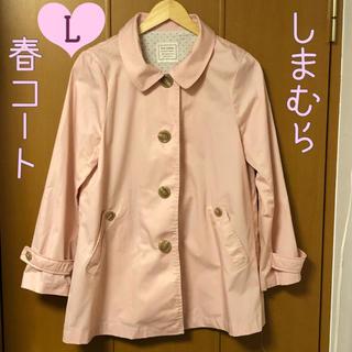 シマムラ(しまむら)のしまむら 春コート ピンク Lサイズ 写真のお色より実物はもう少しピンク色です♡(ピーコート)
