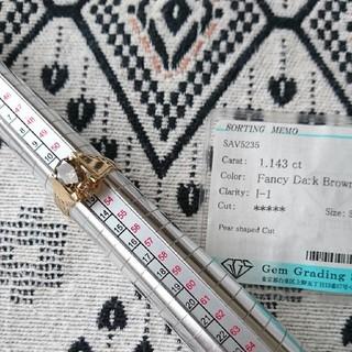 18金。ブラウンイエローダイヤモンド。大粒1,143カラット新品(リング(指輪))