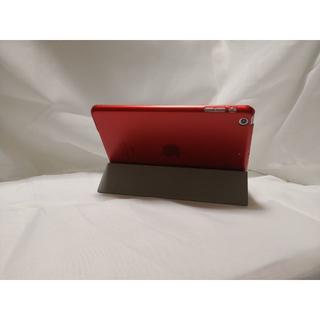 薄型軽量 iPad mini /2/3 兼用 レッド レザー スマートケース(iPadケース)