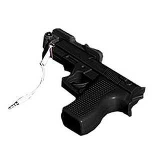 自撮り棒 ブラック 銃 デザイン セルフィー 伸縮 個性的 ハンドガン おしゃれ(自撮り棒)