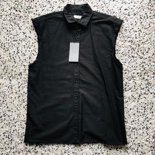 ザラ(ZARA)の新品タグ付★ZARA ザラ ブラック ノースリーブシャツ(シャツ)