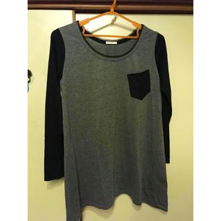 ジーユー(GU)のGU ラグランTシャツ モノトーン(Tシャツ(長袖/七分))