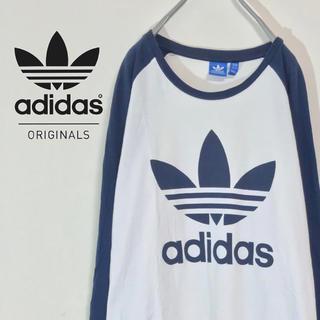 アディダス(adidas)の【トレフォイル ビッグロゴ 染込みプリント】adidas ベースボールタイプ (Tシャツ/カットソー(七分/長袖))