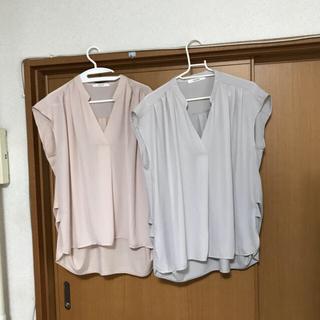 シマムラ(しまむら)のしまむら L 2枚set  とろみシャツ(Tシャツ(半袖/袖なし))