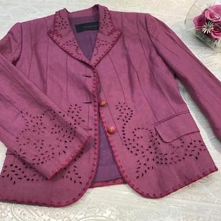 エルマンノシェルヴィーノ(ERMANNO SCHERVINO)のエルマンノ シェルビーノ カジュアル 刺繍 ジャケット 44(テーラードジャケット)