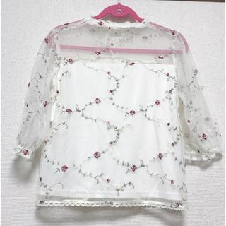 シマムラ(しまむら)の♡花柄♡刺繍♡ブラウス♡(シャツ/ブラウス(長袖/七分))