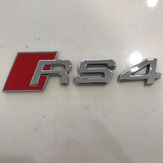 アウディ(AUDI)のAudiアウディRS4メッキエンブレム シールタイプ 新品(車外アクセサリ)