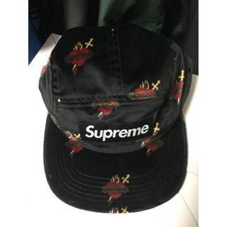 シュプリーム(Supreme)のSupreme Sacred Hearts Camp Cap 黒 Black(キャップ)