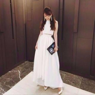 無地光沢サテン セパレートドレス ウエディングドレス フィッシュテール(ロングドレス)
