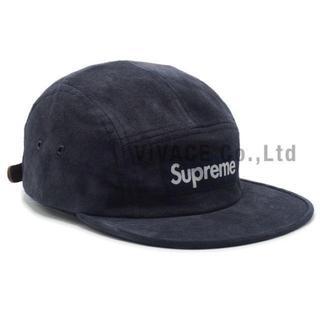 シュプリーム(Supreme)のSupreme Suede Camp Cap 紺(キャップ)