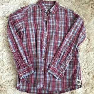 カトー(KATO`)のリネンチェックシャツ メンズ(シャツ)