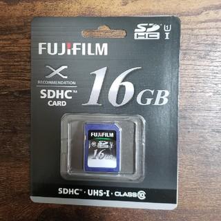 フジフイルム(富士フイルム)のFUJIFILM SDカード 16GB 新品未使用(ミラーレス一眼)