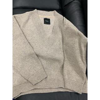 アンユーズド(UNUSED)のUNUSED 18AW V-neck knit オートミール サイズ1(ニット/セーター)