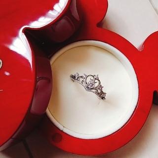 ディズニー(Disney)のK.uno プリンセスティアラハートリング ディズニー ピンクダイヤ(リング(指輪))
