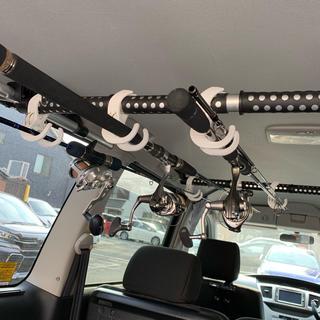 車載 ロッドホルダー クリップ 3セット(6個)ホワイト 新品未使用