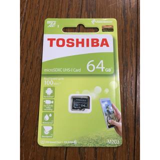 トウシバ(東芝)のTOSHIBA microSDXCカード 64GB 100MB/s(その他)