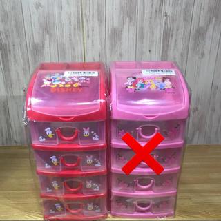 ディズニー(Disney)のディズニー 4段 収納 BOX 小物収納 ミッキー (小物入れ)