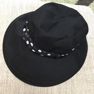 ロサブラン 帽子 完全遮光 UV ハット シフォンスカーフ付 シャンブレー
