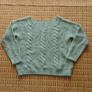 ジーユー(GU)のGU グリーンセーター(ニット/セーター)