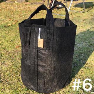 ルーツポーチ☆アメリカのトート型エコ植木鉢プランター6ガロン生分解性ブラック(プランター)