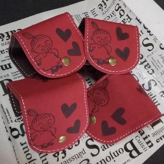 スエード調コインケース・新品未使用・小物入れ・赤コインケース(コインケース)
