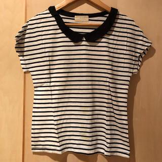 セポ(CEPO)のcepo ボーダー丸襟Tシャツ(Tシャツ(半袖/袖なし))