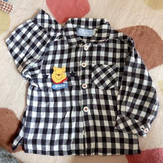 ディズニー(Disney)のプーさん チェックTシャツ 95(Tシャツ/カットソー)