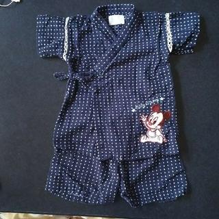 ディズニー(Disney)のベビーミッキー 甚平 90㎝(甚平/浴衣)