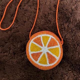 ビーズ 小銭入れ オレンジ コインケース(コインケース)